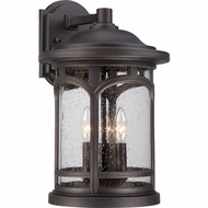 Quoizel MBH8411PN Marblehead Traditional Palladian Bronze Finish 11  Wide Exterior Wall Sconce Lighting