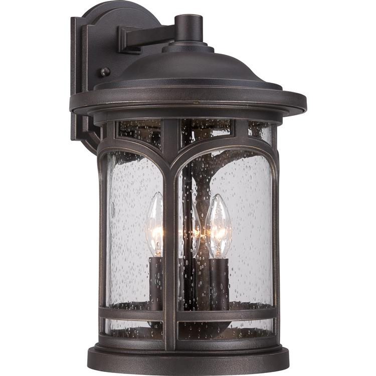 Quoizel mbh8411pn marblehead traditional palladian bronze finish 11 wide exterior wall sconce lighting loading zoom