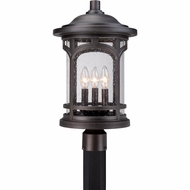 Quoizel MBH9011PN Marblehead Traditional Palladian Bronze Finish 19  Tall Outdoor Post Lamp