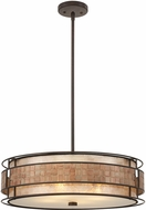 Quoizel MC8420CRC Laguna Contemporary Renaissance Copper Drum Drop Ceiling Light Fixture