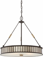 Quoizel MCBF2822WT Belfair Western Bronze Drum Pendant Lighting Fixture
