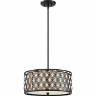 Quoizel MCBQ2818K Boutique Mystic Black 18  Drum Pendant Hanging Light