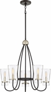 Quoizel MDT5005WT Midnight Modern Western Bronze Mini Hanging Chandelier