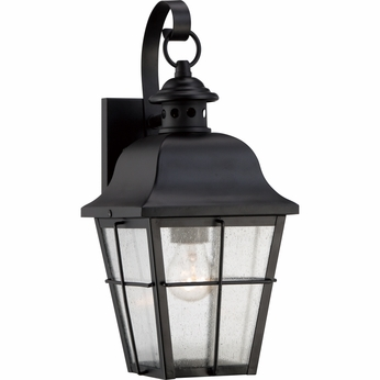 Quoizel MHE8406K Millhouse Traditional Mystic Black Finish 15.5  Tall Outdoor Wall Lamp