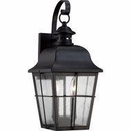 Quoizel MHE8409K Millhouse Traditional Mystic Black Finish 8  Wide Exterior Wall Lighting