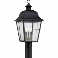 Quoizel MHE9010K Millhouse Traditional Mystic Black Finish 10  Wide Exterior Post Light
