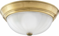 Quoizel ML183A Melon Antique Brass 13  Ceiling Lighting Fixture