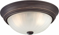 Quoizel ML183PN Melon Palladian Bronze 13  Flush Lighting