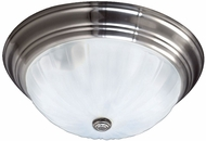 Quoizel ML184ES Melon Empire Silver 15  Flush Mount Lighting