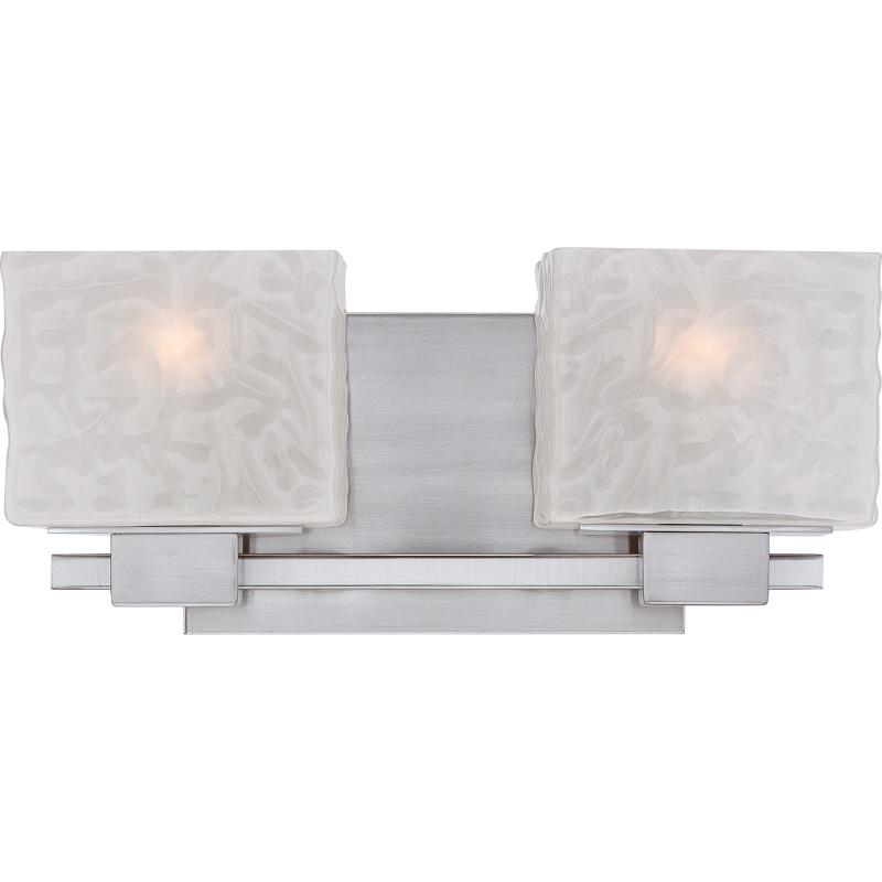 Quoizel Mld8602bn Melody Contemporary Brushed Nickel Finish 15 Wide 2 Light Vanity Light