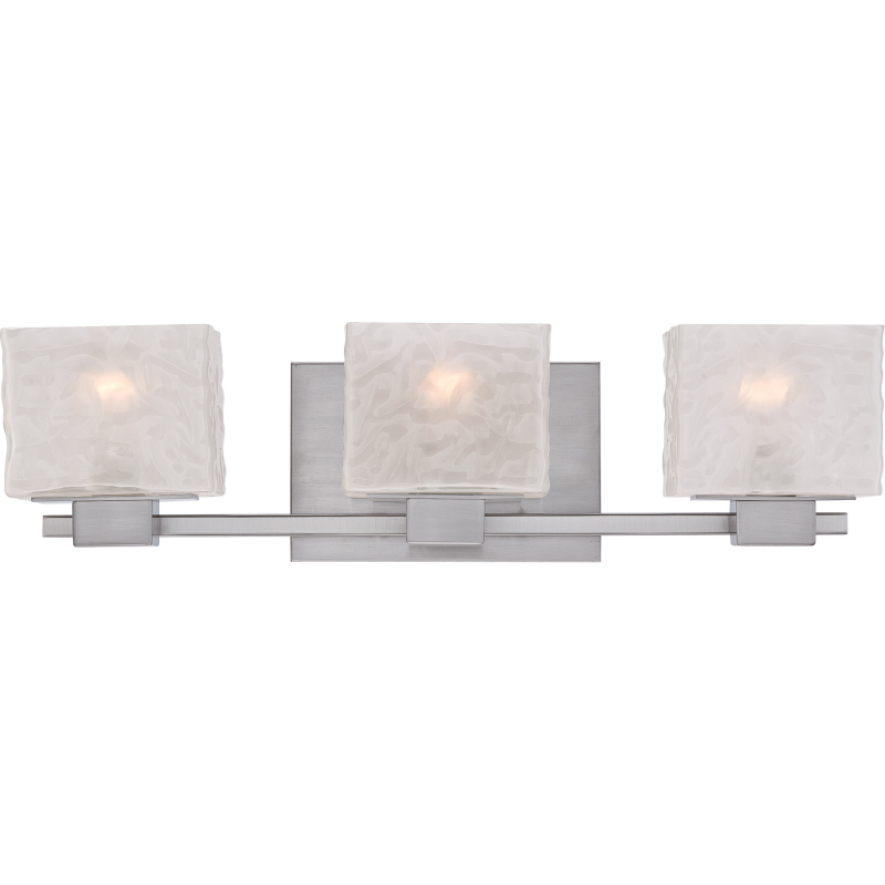 Quoizel MLD8603BN Melody Modern Brushed Nickel Finish 6.5u0026nbsp; Tall 3 Light  Vanity Lighting Fixture. Loading Zoom