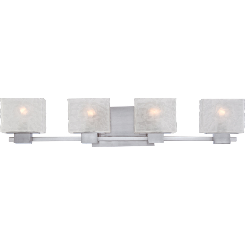 Quoizel mld8604bn melody contemporary brushed nickel for Contemporary bathroom vanity lighting