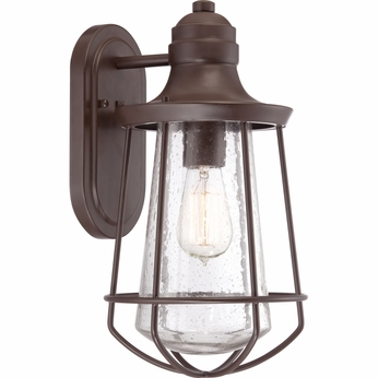 Quoizel MRE8408WT Marine Nautical Western Bronze Finish 8  Wide Outdoor Lamp Sconce