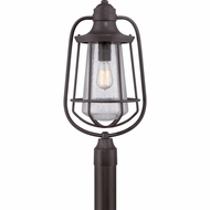 Quoizel MRE9009WT Marine Nautical Western Bronze Finish 11.5  Wide Outdoor Lamp Post Light
