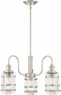 Quoizel MTE5103BN Maritime Modern Brushed Nickel Hanging Chandelier