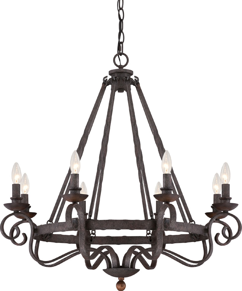 Quoizel nbe5008rk noble traditional rustic black chandelier light quoizel nbe5008rk noble traditional rustic black chandelier light loading zoom arubaitofo Image collections