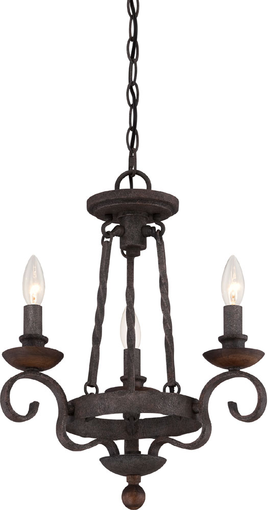 Quoizel nbe5303rk noble traditional rustic black mini hanging quoizel nbe5303rk noble traditional rustic black mini hanging chandelier loading zoom aloadofball Image collections