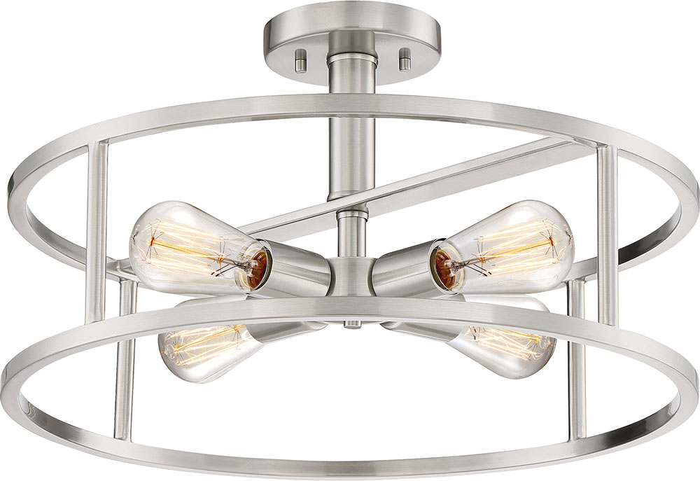 Quoizel nhr1718bn new harbor contemporary brushed nickel 18 flush quoizel nhr1718bn new harbor contemporary brushed nickel 18nbsp flush mount lighting fixture loading zoom mozeypictures Gallery