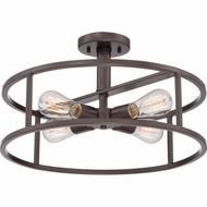 Quoizel NHR1718WT New Harbor Retro Western Bronze Finish 18  Wide Overhead Lighting