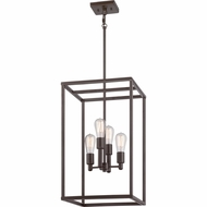 Quoizel NHR5204WT New Harbor Vintage Western Bronze Finish 23.5  Tall Mini Chandelier Lighting