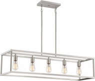 Quoizel NHR538BN New Harbor Contemporary Brushed Nickel Kitchen Island Light Fixture