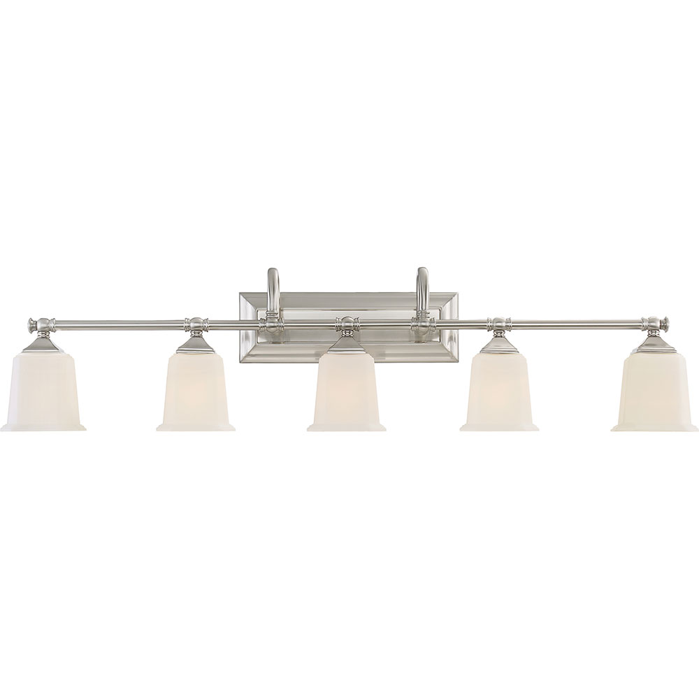 Quoizel NL8605BN Nicholas Modern Brushed Nickel 5 Light Bath Wall Sconce.  Loading Zoom