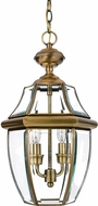 Quoizel NY1178A Newbury Antique Brass Outdoor 11  Hanging Pendant Lighting