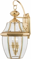 Quoizel NY8317B Newbury Polished Brass Outdoor 10.5  Lamp Sconce