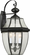 Quoizel NY8412K Newbury Mystic Black Exterior Wall Sconce Light