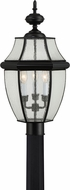 Quoizel NY9012K Newbury Mystic Black Outdoor Post Light Fixture