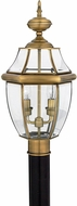 Quoizel NY9042A Newbury Antique Brass Outdoor 11  Lamp Post Light