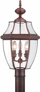 Quoizel NY9043AC Newbury Aged Copper Outdoor 12.5  Lamp Post Light Fixture