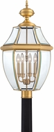 Quoizel NY9045A Newbury Antique Brass Outdoor 16  Lamp Post Light