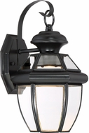 Quoizel NYCL8407K Newbury Clear Mystic Black LED Outdoor 7  Wall Sconce