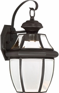 Quoizel NYCL8409Z Newbury Clear Medici Bronze LED Outdoor 8.25  Sconce Lighting