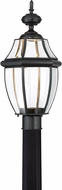 Quoizel NYCL9011K Newbury Clear Mystic Black LED Outdoor Post Light Fixture