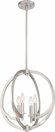 Quoizel ON2818BN Orion Modern Brushed Nickel Mini Ceiling Chandelier