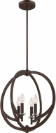 Quoizel ON2818WT Orion Contemporary Western Bronze Mini Hanging Chandelier