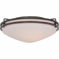 Quoizel OZ1616PN Ozark Palladian Bronze Finish 16  Wide Ceiling Lighting Fixture