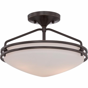 Quoizel OZ1713PN Ozark Palladian Bronze Finish 9.5  Tall Ceiling Light Fixture