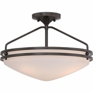 Quoizel OZ1716PN Ozark Palladian Bronze Finish 16.5  Wide Flush Lighting