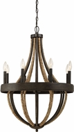 Quoizel PB5008TK Pembroke Tarnished Bronze Mini Ceiling Chandelier
