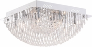 Quoizel PCAD1616C Platinum Collection Adorn Polished Chrome Xenon Flush Ceiling Light Fixture