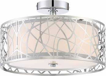 Quoizel PCAE1715C Platinum Collection Abode Modern Polished Chrome Ceiling Lighting Fixture