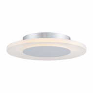 Quoizel PCAW1612W Platinum Collection Aglow Modern White Lustre LED 11.75  Flush Mount Lighting Fixture
