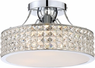 Quoizel PCAX1714C Platinum Collection Alexa Polished Chrome Flush Lighting