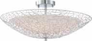 Quoizel PCAY1722C Platinum Collection Array Contemporary Polished Chrome Flush Mount Light Fixture