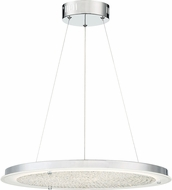 Quoizel PCBZ2820C Platinum Collection Blaze Polished Chrome LED Pendant Light Fixture