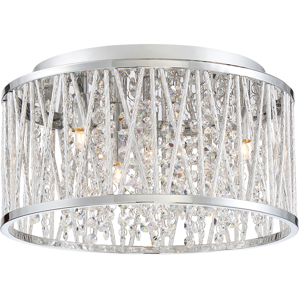 Xenon Ceiling Lights : Quoizel pccc c platinum collection crystal cove