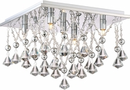 Quoizel PCCD1615C Platinum Collection Crystal Drape Polished Chrome Xenon 15  Ceiling Light Fixture